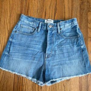 Frame denim high waist shorts